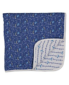3 Stories Trading Infant 4 Layer Muslin Blanket, Galaxy