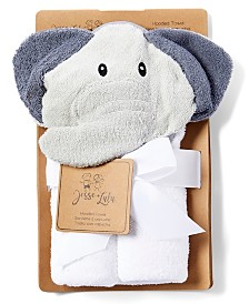 3Stories Jesse Lulu Infant Hooded Towel, Elephant