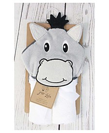 3 Stories Trading Infant Hooded Towel, Donkey
