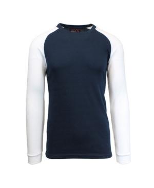 Men's Long Sleeve Thermal Shirt with Contrast Raglan Trim on Sleeves