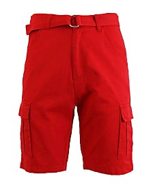 Blue Rock Men's Cotton Belted Cargo Shorts