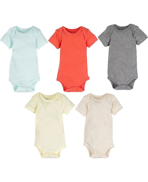Miracle Baby Boys and Girls Bodysuit - Pack of 5