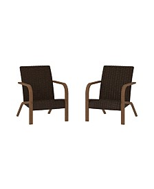 Cosco Outdoor Living Smartwick Patio Lounge Chairs, 2-Pack