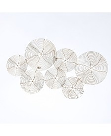 Luxen Home Metal Swirl Plates Gold Finish Wall Decor