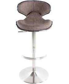 MIX Ecco Faux Fabric Adjustable Swivel Barstool