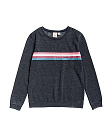 Roxy Big Girl Low Rising Crew Neck Fleece Top