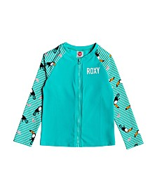 Roxy Little Girl Birds Long Sleeve Lycra Zip