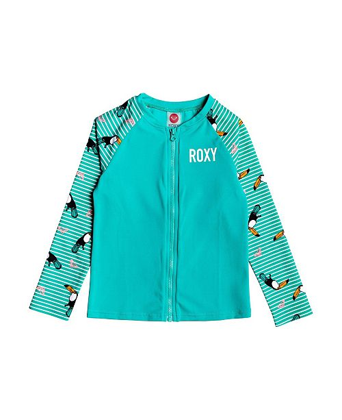 Roxy Toddler Girl Birds Long Sleeve Lycra Zip