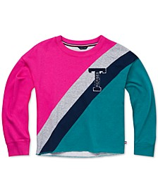 Toddler Girls Colorblocked French Terry Sweatshirt