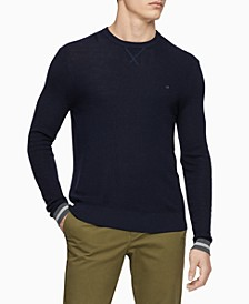 Calvin Klein Men's Merino Crew-Neck Sweater