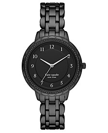 Women's Morningside Black Stainless Steel Bracelet Watch 38mm