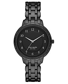 Kate Spade New York Women's Morningside Black Stainless Steel Bracelet Watch 38mm