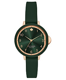 Kate Spade New York Women's Park Row Green Silicone Strap Watch 34mm