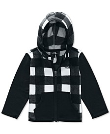 Baby Boys Plaid Glacier Fleece Hoodie