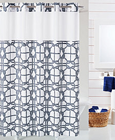 Hookless Nautical Shower Curtain