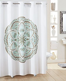 Henna Medallion Shower Curtain