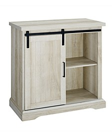 Modern Farmhouse Grooved Door Accent TV Stand