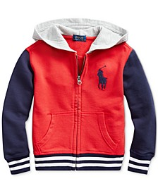 Little Boys Big Pony Cotton French Terry Hoodie, Created For Macy's
