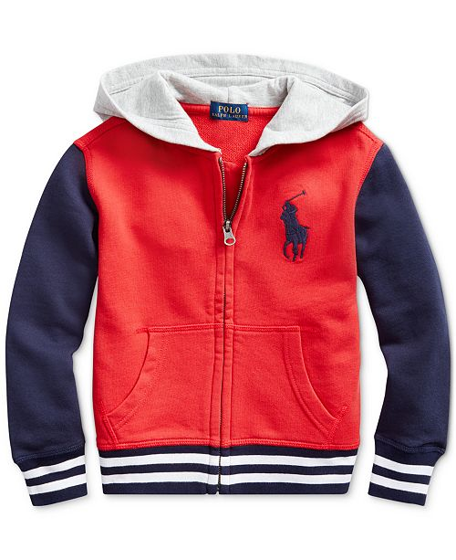 Polo Ralph Lauren Toddler Boys Knit Hoodie, Created For Macy's