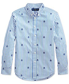 Big Boys Skull Poplin Shirt