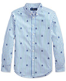Polo Ralph Lauren Big Boys Skull Poplin Shirt