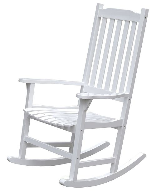 Groovy Wooden Indoor Outdoor Patio Deck Garden Porch Rocking Chair Bralicious Painted Fabric Chair Ideas Braliciousco
