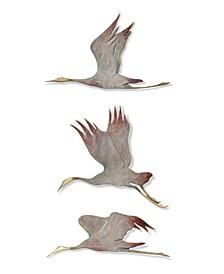 Home Crane Plaque- Set of 3