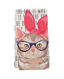 Wit Gifts Tea Towels, Cat