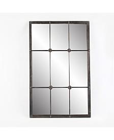 Luxen Home Metal Window Frame Wall Mirror