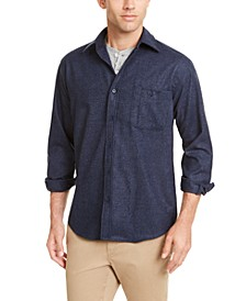 Men's Fitted Elbow-Patch Trail Wool Shirt