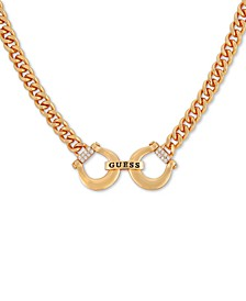 """Gold-Tone Crystal Horseshoe Collar Necklace, 16"""" + 2"""" extender"""