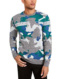 Men's Abstract Jacquard Crewneck Sweater, Created for Macy's