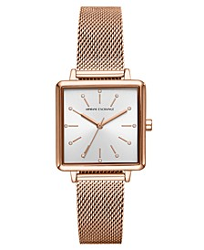Women's Lola Rose Gold-Tone Stainless Steel Mesh Bracelet Watch 30mm