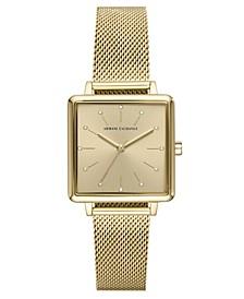 Women's Lola Gold-Tone Stainless Steel Mesh Bracelet Watch 30mm