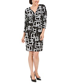 Printed Zip-Front Dress, Created for Macy's