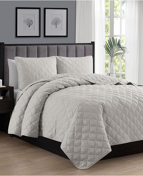 Cathay Home Inc. Oversize Lightweight Quilt Coverlet Set - King/Cal King