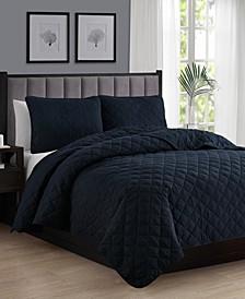 Oversize Lightweight Quilt Coverlet Set - King/Cal King