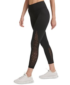 DKNY Sport Flocked Leopard High-Waist Leggings