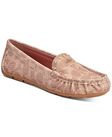 COACH McKenna Studded Driver Loafers