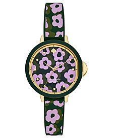 Women's Park Row Floral Silicone Strap Watch 34mm