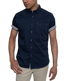 Men's Contrast Top-Stitch Shirt