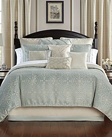 CLOSEOUT! Daphne Reversible Queen 4 Piece Comforter Set