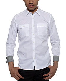 Kenneth Cole Men's Two Pocket Solid Shirt