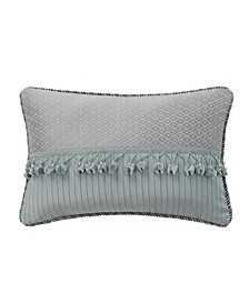 "Landon Aqua 12"" X 18"" Breakfast Decorative Pillow"