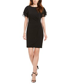 Jessica Howard Petite Flutter-Sleeve Dress