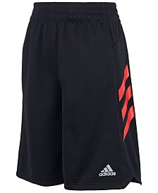 adidas Big Boys Angled 3- Stripes Shorts