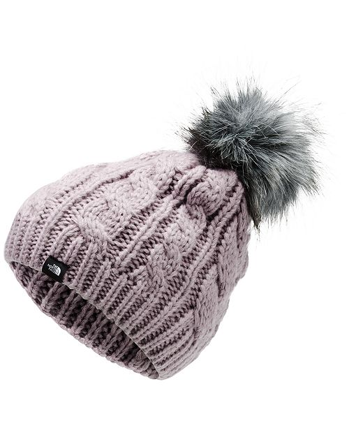The North Face Big Girls Oh-Mega Beanie With Faux-Fur Pom