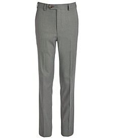 Big Boys Classic-Fit Stretch Black/White Birdseye Suit Pants