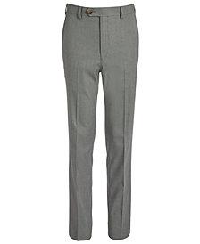 Lauren Ralph Lauren Big Boys Classic-Fit Stretch Black/White Birdseye Suit Pants