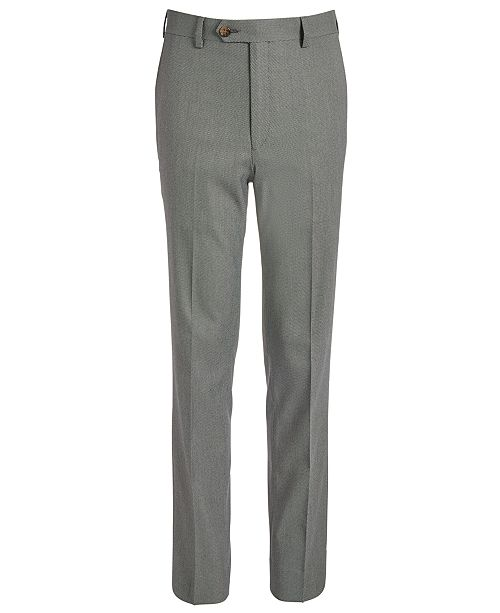 Lauren Ralph Lauren Big Boys Classic-Fit Stretch Black/White Birdseye Suit Pants